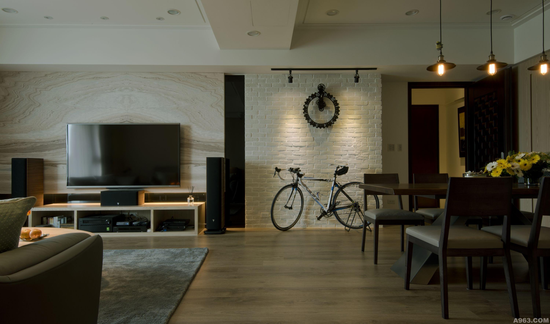 烤漆木材电视背景墙