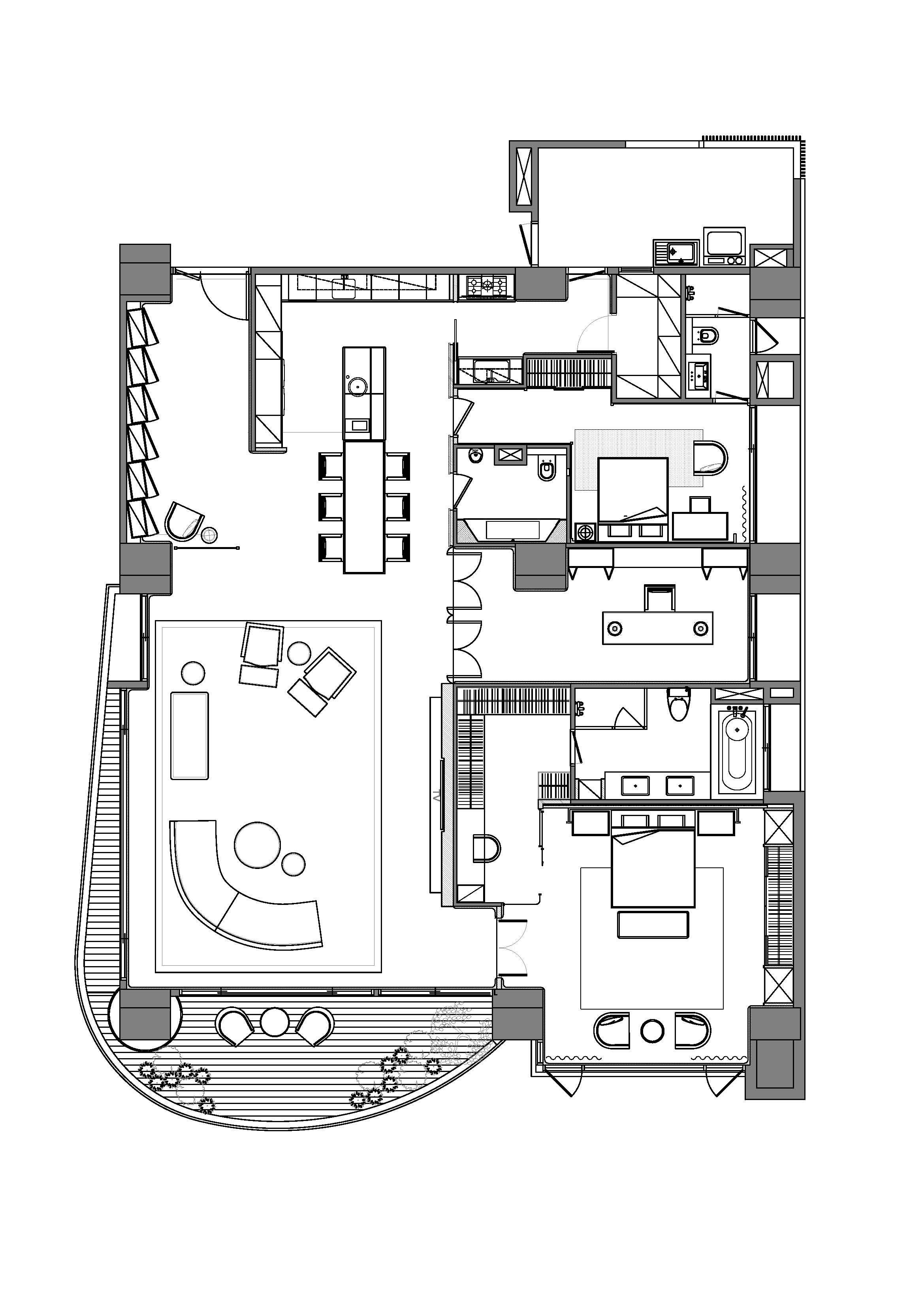 室内设计天花板平面