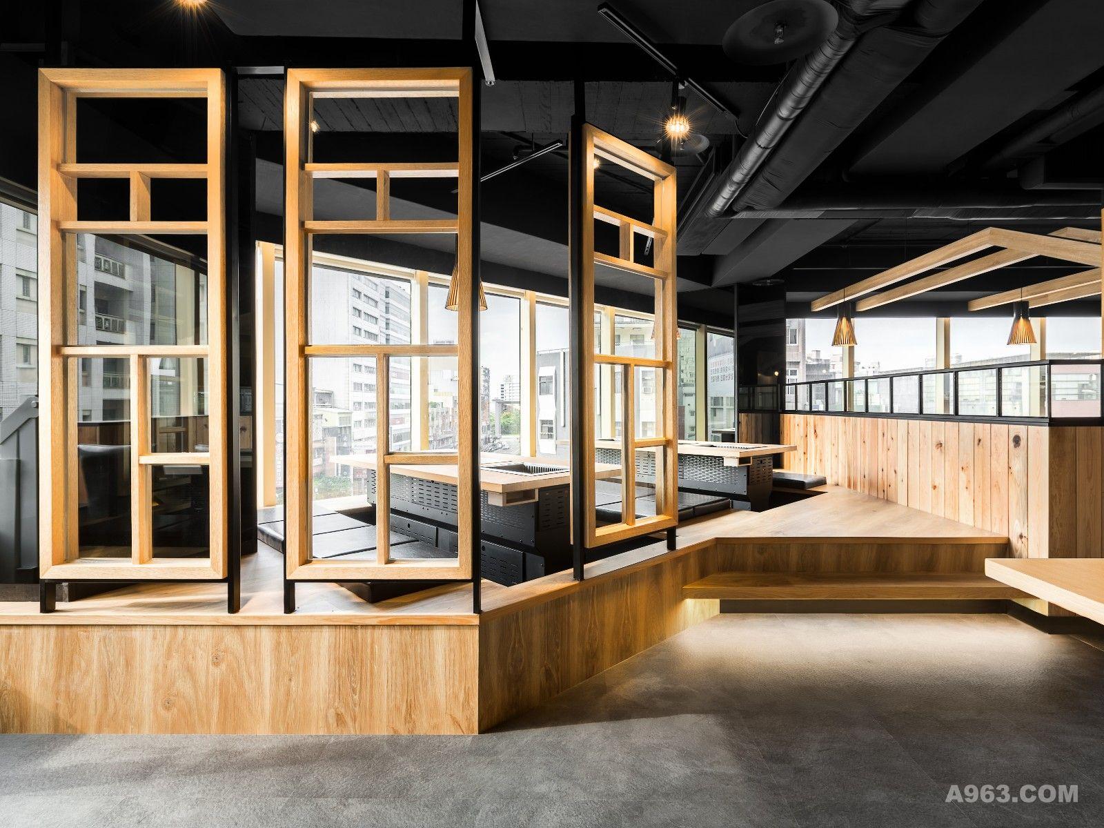 以工业风为基调,利用深浅不同的木质形成的简单对比,使空间整体色调沉稳而不沉闷;